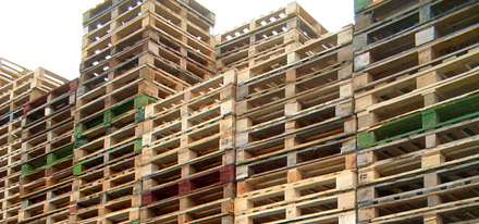 Pallets That Require Repair Enter Our Warehouse Where They Are Reconditioned Graded And Marked By The Repairer We Only Use Good Quality Recovered Timber
